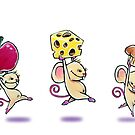 Lunch Time Mice Greeting Card by George Webber
