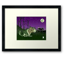 Moonlight Huntress Framed Print