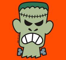Angry Halloween Frankenstein Kids Tee