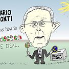 Caricature of Mario Monti by Binary-Options