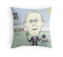 Caricature of Mario Monti Throw Pillow