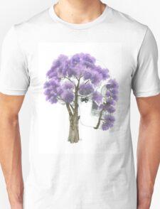 Summer Jacaranda Skull Unisex T-Shirt
