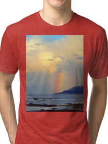 Storm Drops a Rainbow onto Village Tri-blend T-Shirt