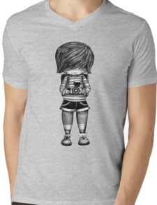 Smile Baby Photographer black and white Mens V-Neck T-Shirt