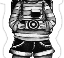Smile Baby Photographer black and white Sticker