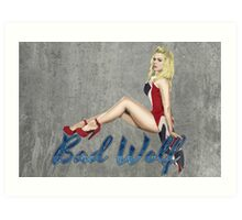Blonde in a Union Jack...A specific one Art Print