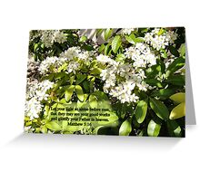 Flowers of the light  Bible text/Bespoke text Greeting Card