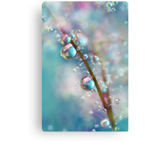 Rainbow Blue Smokey Drops Canvas Print