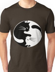 Ying yang cat (white) Unisex T-Shirt