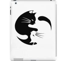 Ying yang cat (white) iPad Case/Skin
