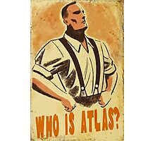 Who Is Atlas Photographic Print