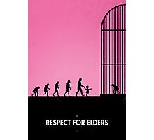 99 steps of progress - Respect for elders Photographic Print