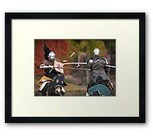 Medieval Magic - Jousting on Target Framed Print