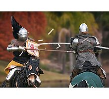 Medieval Magic - Jousting on Target Photographic Print