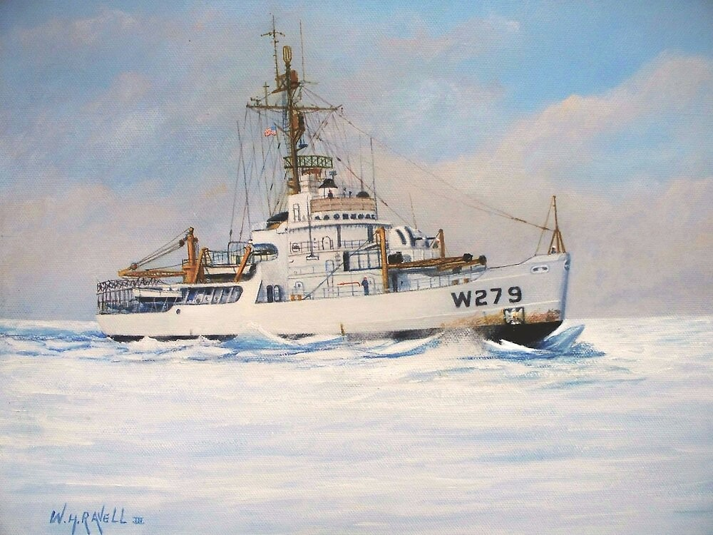 U. S. Coast Guard Icebreaker Eastwind by William H. RaVell III