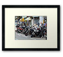 BIKERS . Framed Print
