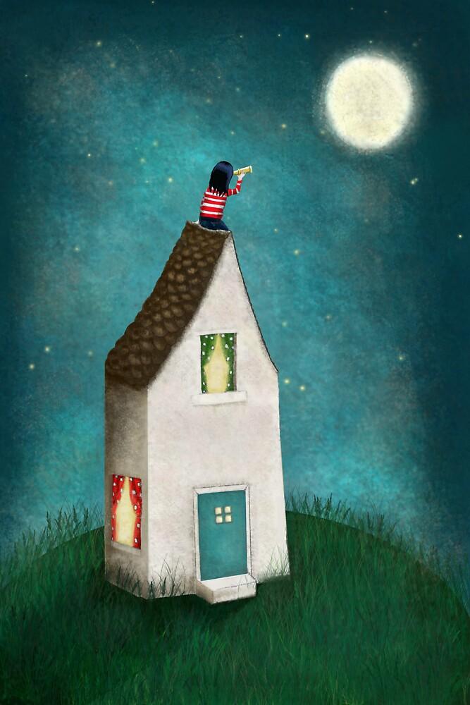 Night Sky- Print by sparklehen