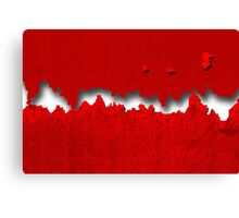 The red wall! Canvas Print