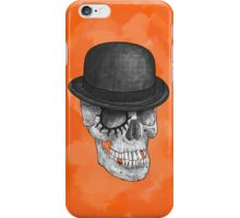 Clockskull orange - iPhone case iPhone Case/Skin