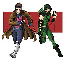 Gambit and Green Arrow Photographic Print