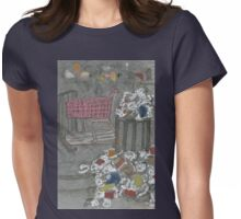 red cart at coney island Womens Fitted T-Shirt