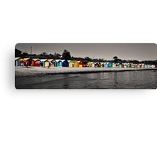 bathing boxes. Canvas Print