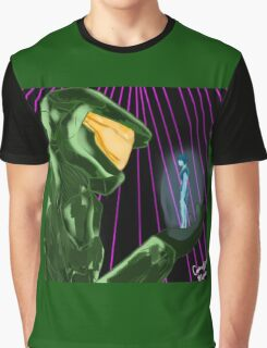 Master Chief x Cortana (Halo) Graphic T-Shirt