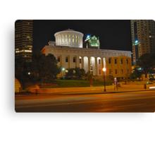 State Capitol Building at night - Columbus, Ohio Canvas Print