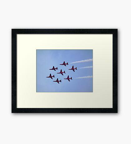 Inverted Red Arrows Framed Print