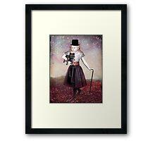 Madame Colette and her pet Framed Print
