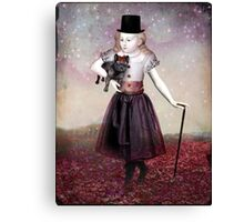 Madame Colette and her pet Canvas Print