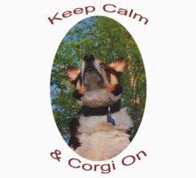 Keep Calm & Corgi On One Piece - Short Sleeve