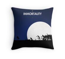 99 steps of progress - Immortality Throw Pillow