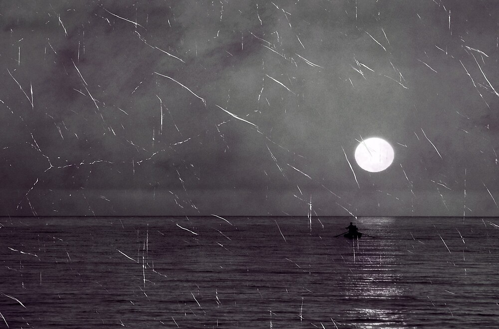 Old photo of sea landscape  by Cebas
