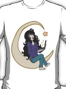 Laptop Star - Black Hair T-Shirt