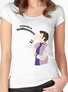Technically I'm HoooOomeless Women's Fitted Scoop T-Shirt