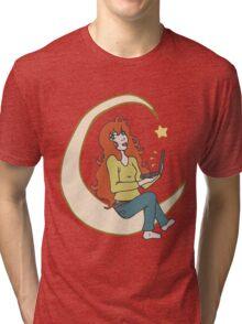 Laptop Star - Red Hair  Tri-blend T-Shirt
