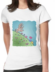 Easter Egg Chase Womens Fitted T-Shirt