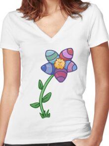 Easter Egg Daffodil  Women's Fitted V-Neck T-Shirt