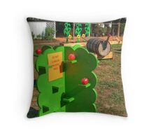 Don't climb the Apple Trees Throw Pillow