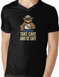 Take Care Mens V-Neck T-Shirt