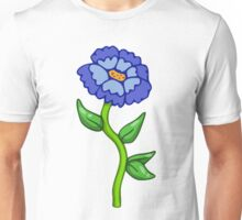 Single Blue Flower  Unisex T-Shirt