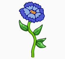 Single Blue Flower  Unisex T-Shirt