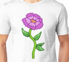 Single Purple Flower  Unisex T-Shirt