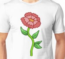 Single Red Flower  Unisex T-Shirt
