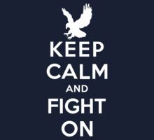 Keep Calm And Fight On 9/11 Tribute Memorial American Patriotic T Shirt by stabilitees