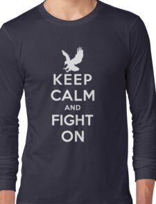 Keep Calm And Fight On 9/11 Tribute Memorial American Patriotic T Shirt Long Sleeve T-Shirt