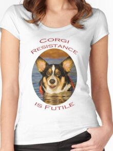 Corgi Resistance Women's Fitted Scoop T-Shirt