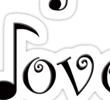 I Love Music Sticker