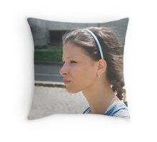 Vania - Crosses the Street Throw Pillow
